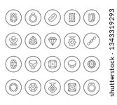 set round line icons of jewelry | Shutterstock .eps vector #1343319293