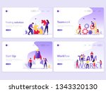 set of landing page templates.... | Shutterstock .eps vector #1343320130