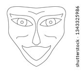 contour face drawing  sketch ...   Shutterstock .eps vector #1343325986