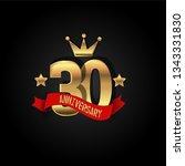 30 years anniversary simple... | Shutterstock .eps vector #1343331830