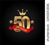 50 years anniversary simple... | Shutterstock .eps vector #1343331836