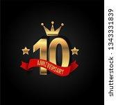 10 years anniversary simple... | Shutterstock .eps vector #1343331839