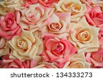 Stock photo pink and white roses horizontal 134333273