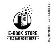e book store logo. book shop... | Shutterstock .eps vector #1343338856