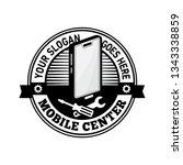 mobile center logo. mobile fix... | Shutterstock .eps vector #1343338859