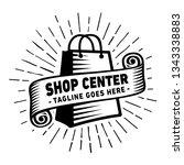 shop center design template.... | Shutterstock .eps vector #1343338883