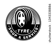 tyre shop and service logo... | Shutterstock .eps vector #1343338886