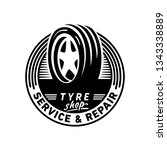 tyre shop service and repair... | Shutterstock .eps vector #1343338889