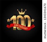 100 years anniversary simple... | Shutterstock .eps vector #1343341670
