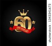 60 years anniversary simple... | Shutterstock .eps vector #1343341673