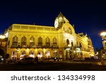 Municipal House Facade At Nigh...