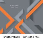 abstract modern frame | Shutterstock . vector #1343351753