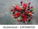 Flat Lay Homemade Raspberries...