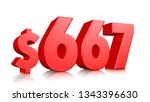 667  six hundred sixty seven... | Shutterstock . vector #1343396630