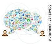 speech bubbles communication... | Shutterstock .eps vector #134339870