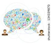 speech bubbles communication... | Shutterstock .eps vector #134339870
