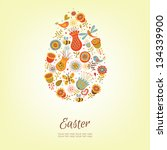 cute easter egg in vector | Shutterstock .eps vector #134339900