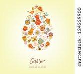 cute easter egg in vector | Shutterstock .eps vector #134339900