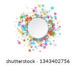 colored carnaval confetti... | Shutterstock .eps vector #1343402756