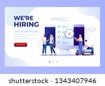 job presentation fair banner... | Shutterstock .eps vector #1343407946