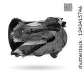 grey brush stroke and texture.... | Shutterstock .eps vector #1343415746