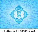 business ribbon icon inside sky ... | Shutterstock .eps vector #1343417573