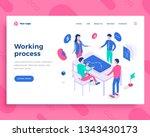 teamwork process concept ... | Shutterstock .eps vector #1343430173