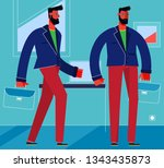 character design flat trendy... | Shutterstock .eps vector #1343435873