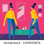 character design flat trendy... | Shutterstock .eps vector #1343435876
