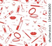 vector seamless pattern with... | Shutterstock .eps vector #1343436800