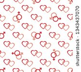 seamless pattern with gender... | Shutterstock .eps vector #1343437070