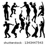 a set of singers pop  country... | Shutterstock .eps vector #1343447543