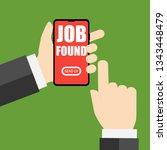 job found apply for it mobile... | Shutterstock .eps vector #1343448479