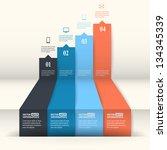 abstract paper infografics.... | Shutterstock .eps vector #134345339