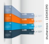 abstract paper infografics.... | Shutterstock .eps vector #134345390