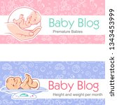 illustration for baby blog.... | Shutterstock .eps vector #1343453999