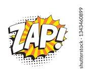 word 'zap' in vintage comic... | Shutterstock .eps vector #1343460899