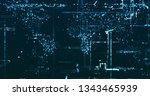 abstract digital data background | Shutterstock . vector #1343465939
