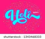 vector hand drawn happy holi... | Shutterstock .eps vector #1343468333