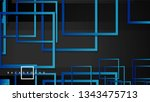 vector modern abstract squares... | Shutterstock .eps vector #1343475713