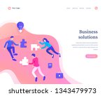 business solutions concept ... | Shutterstock .eps vector #1343479973