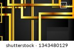 vector modern abstract squares... | Shutterstock .eps vector #1343480129