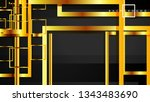 vector modern abstract squares... | Shutterstock .eps vector #1343483690
