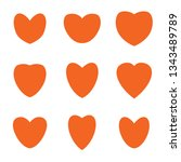 heart icon collection isolated... | Shutterstock .eps vector #1343489789