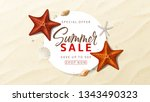 summer sale advertisement... | Shutterstock .eps vector #1343490323