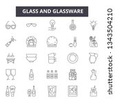 glass and glassware line icons... | Shutterstock .eps vector #1343504210