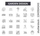 garden design line icons for... | Shutterstock .eps vector #1343504243