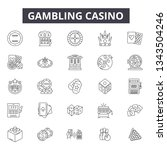 gambling casino line icons for... | Shutterstock .eps vector #1343504246