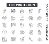 fire protection line icons for... | Shutterstock .eps vector #1343504729