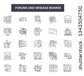 forums and message boards line... | Shutterstock .eps vector #1343504750
